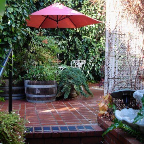 Miner's Cabin patio